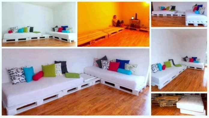 Divano Pallet Vendita : Come costruire un divano con pallet fai da te guida passo passo