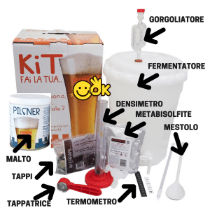 Kit per la birra in casa