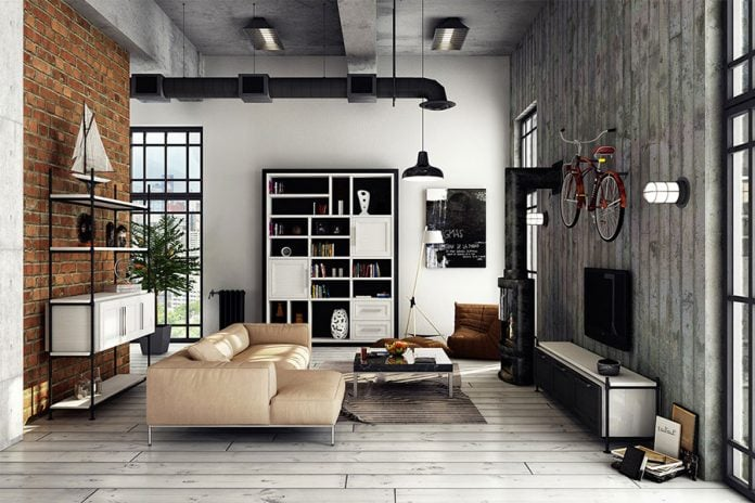 Come arredare un soggiorno in stile industrial chic - IdeediCasa.it