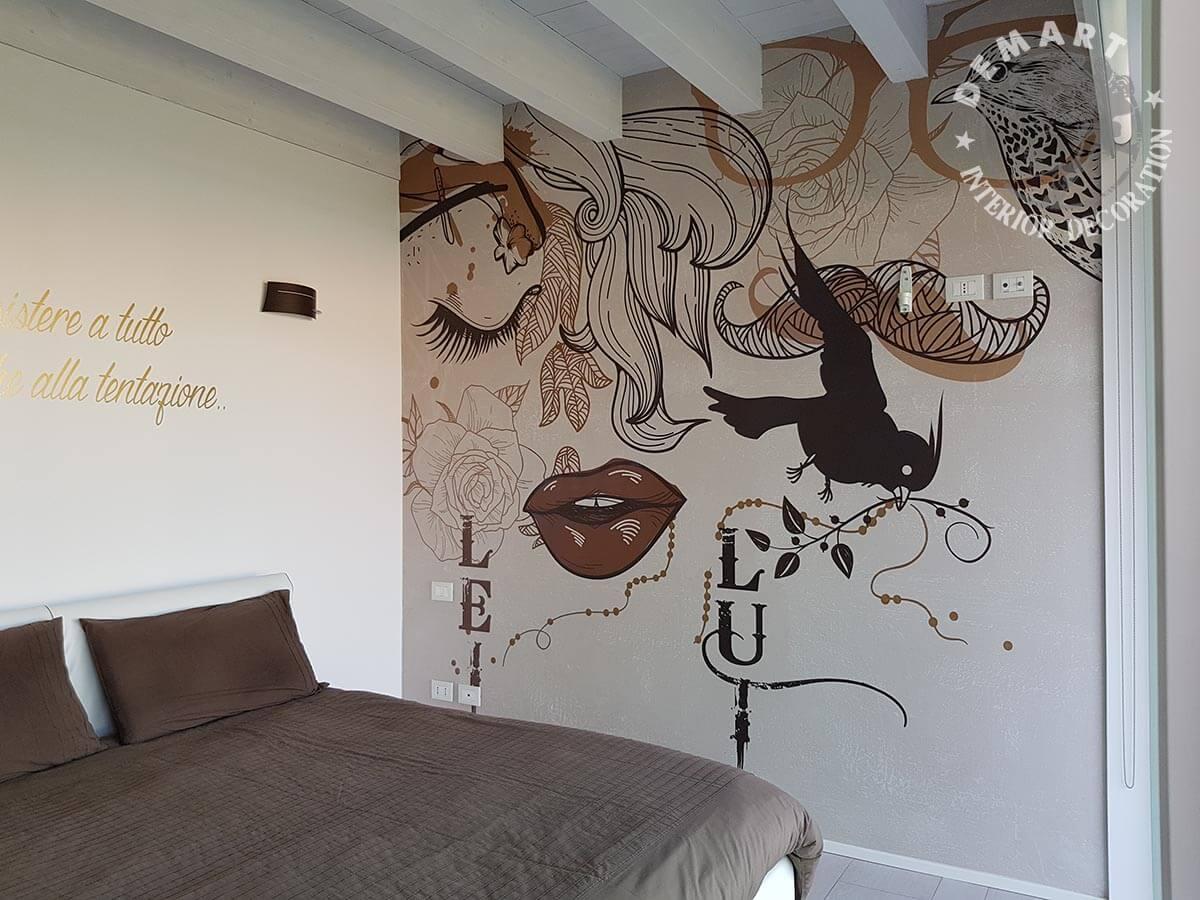 Decorare pareti interne con la carta da parati moderna e l for Carta da parati la casa moderna