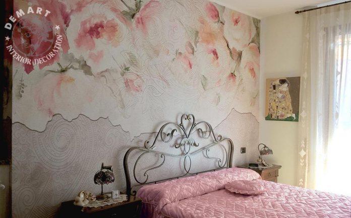 Decorare pareti interne con la carta da parati moderna e l - Decorare pareti interne ...