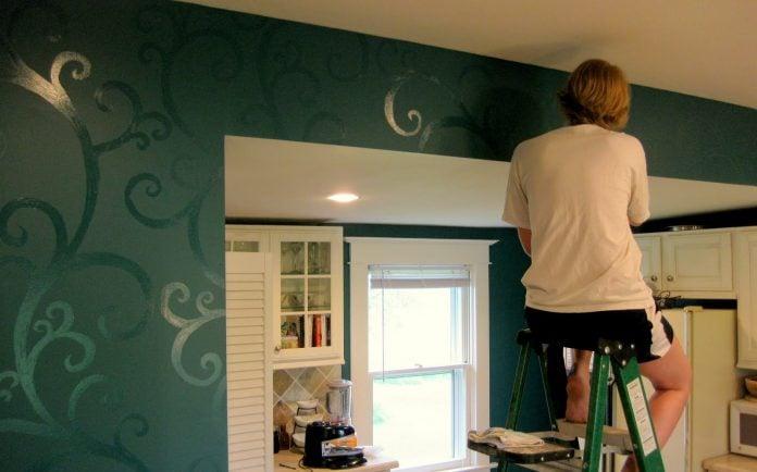 Stencil per parete come usarli per rinnovare la casa - Stencil parete ikea ...